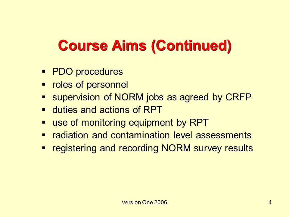 Course Aims (Continued)