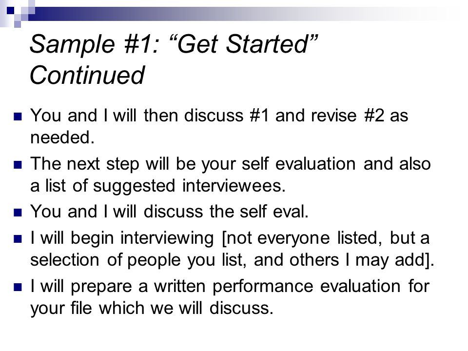 Sample #1: Get Started Continued