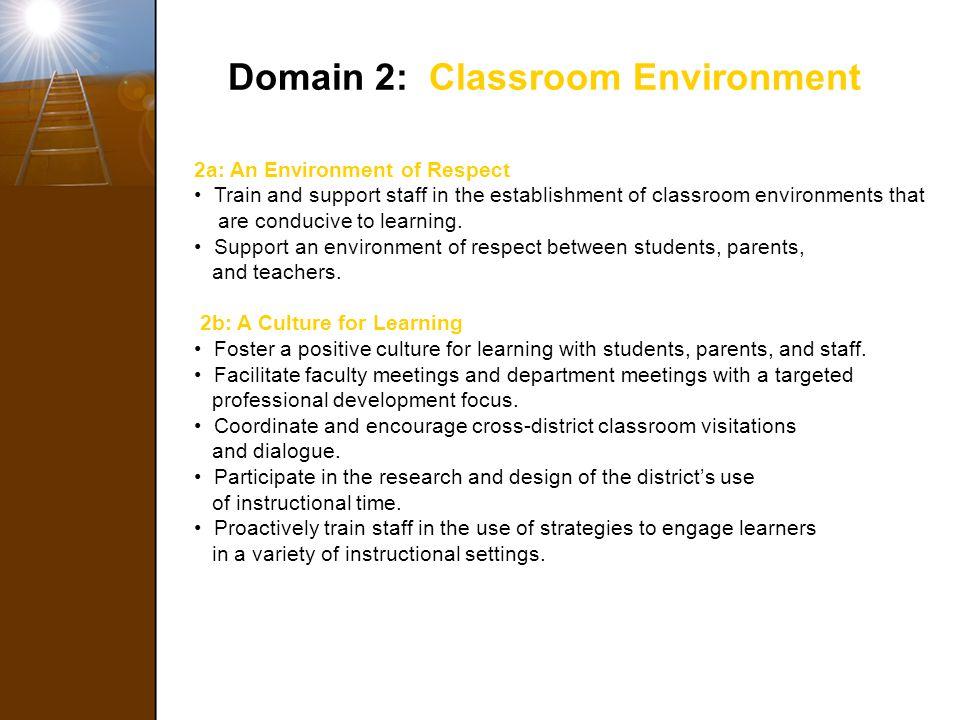 Domain 2: Classroom Environment