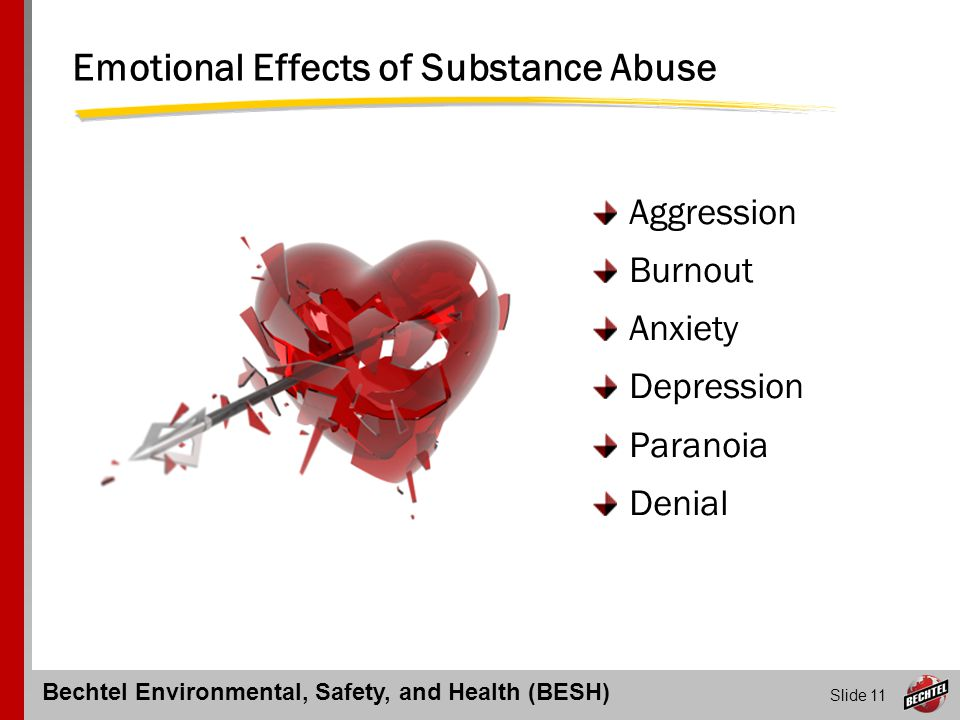 Emotional Effects of Substance Abuse