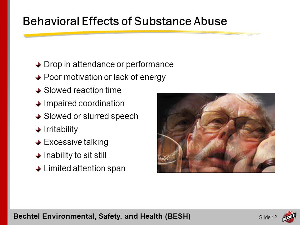 Behavioral Effects of Substance Abuse