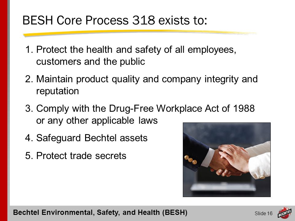 BESH Core Process 318 exists to: