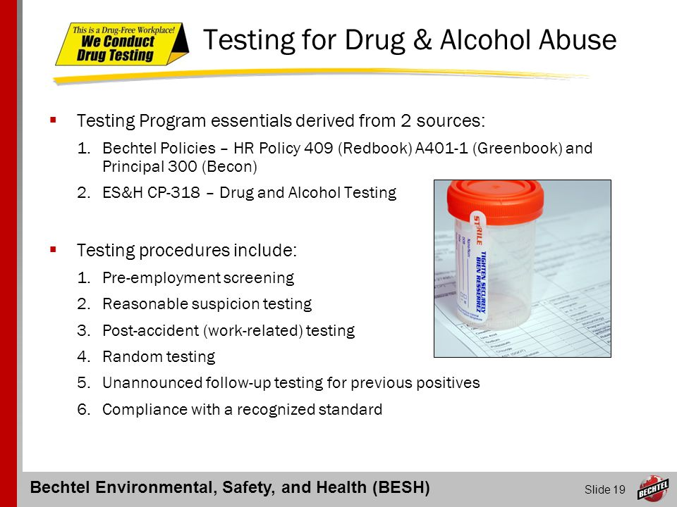 Testing for Drug & Alcohol Abuse