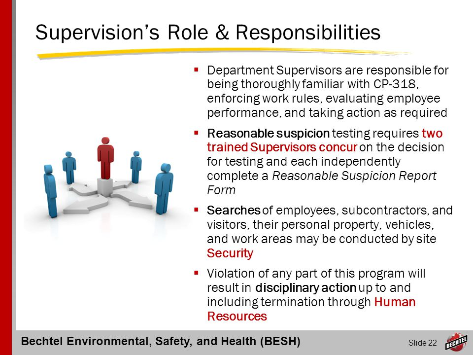 Supervision's Role & Responsibilities