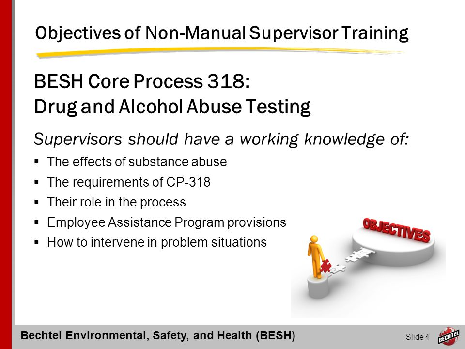 Objectives of Non-Manual Supervisor Training
