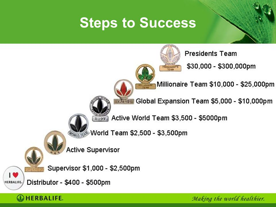 Steps to Success Auto transition