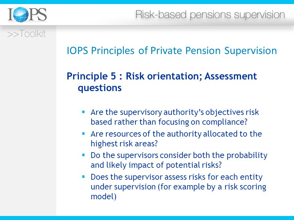 IOPS Principles of Private Pension Supervision