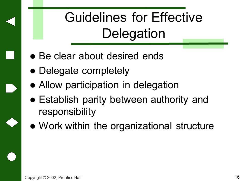 Guidelines for Effective Delegation