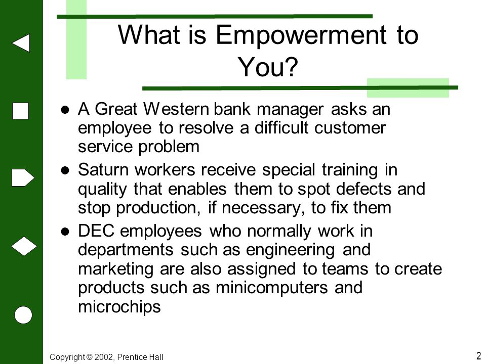 What is Empowerment to You