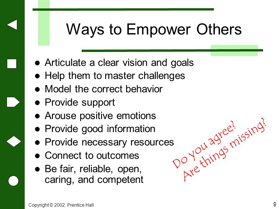 Ways to Empower Others Do you agree Are things missing
