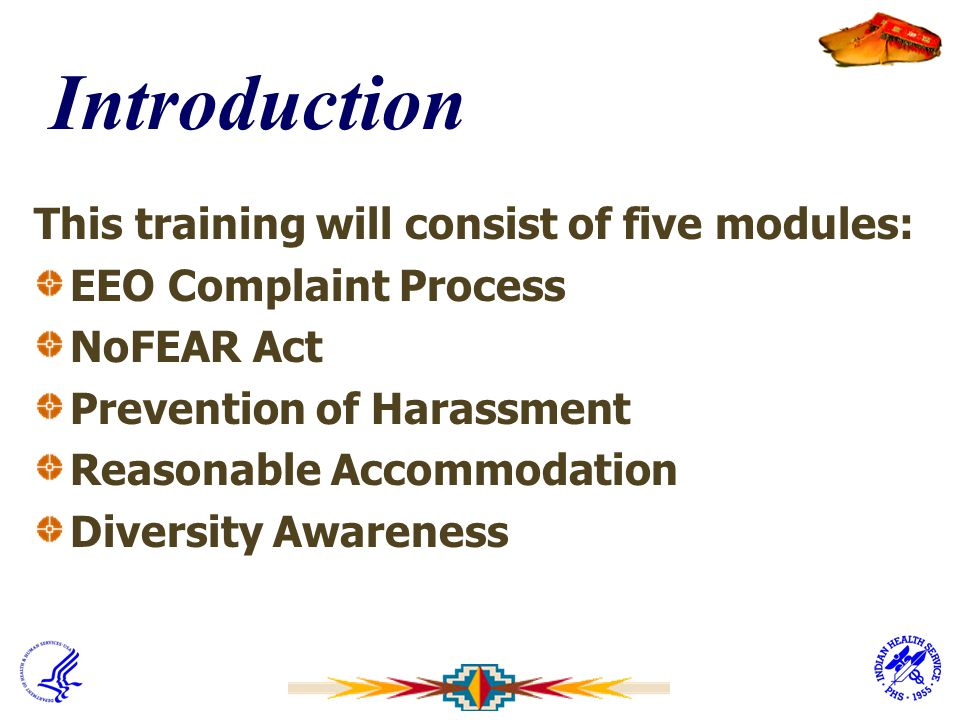 Introduction This training will consist of five modules: