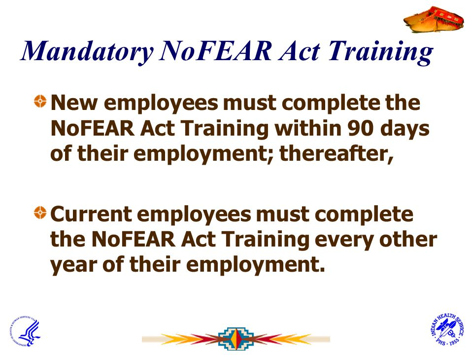 Mandatory NoFEAR Act Training