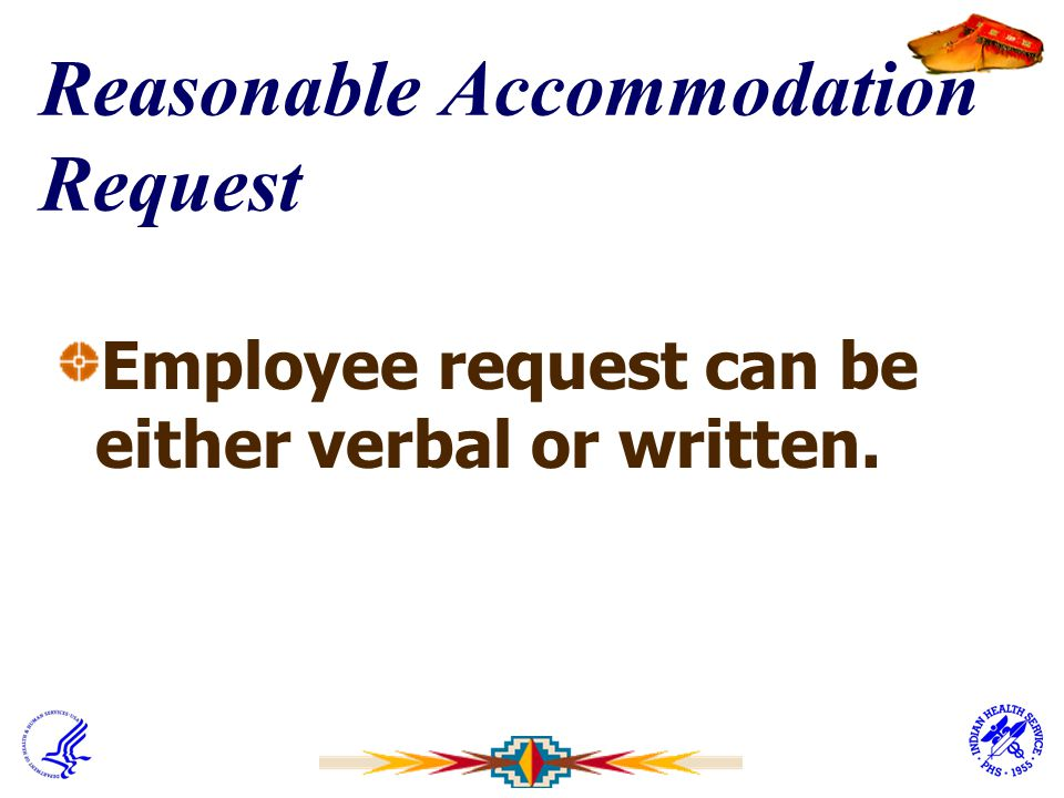 Reasonable Accommodation Request
