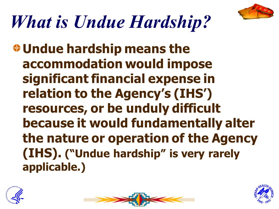 What is Undue Hardship