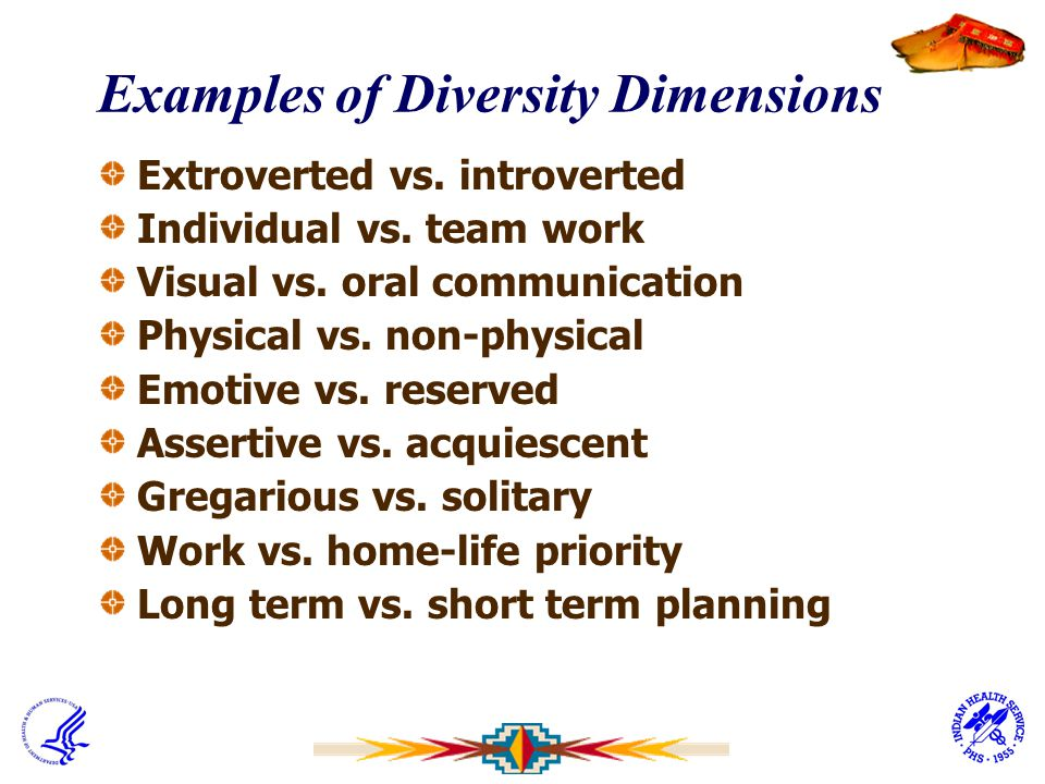 Examples of Diversity Dimensions