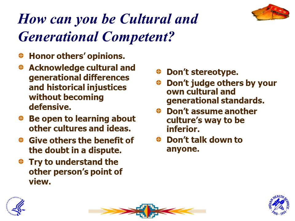 How can you be Cultural and Generational Competent