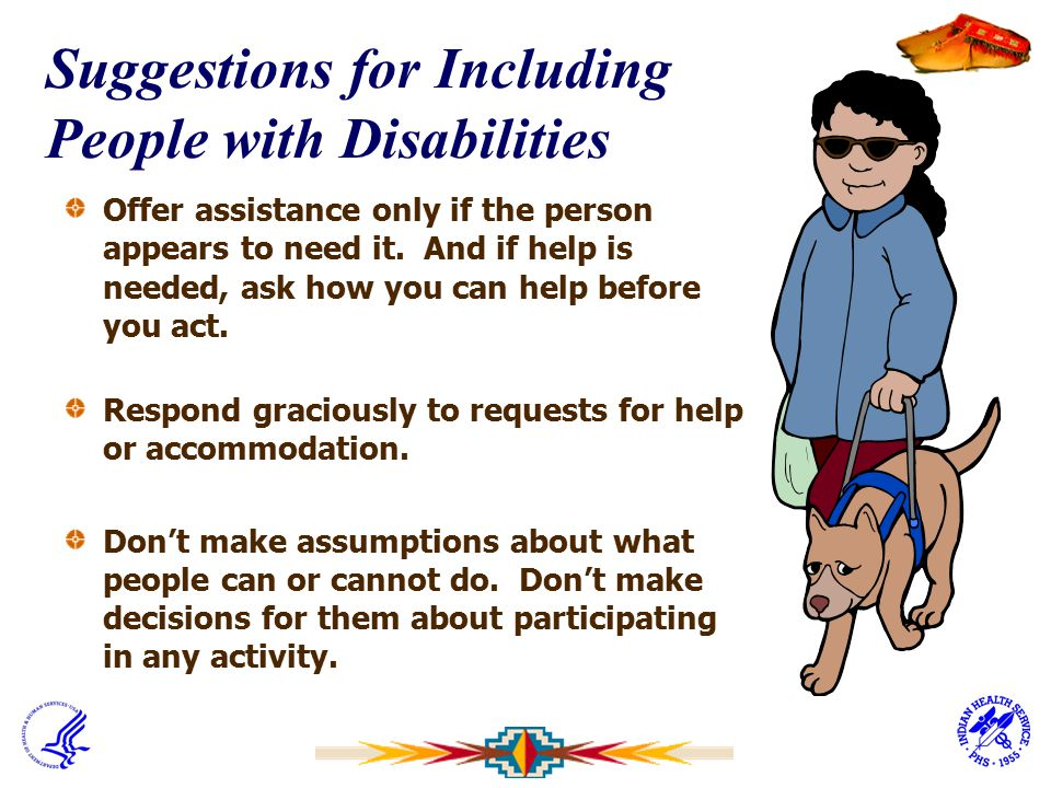 Suggestions for Including People with Disabilities