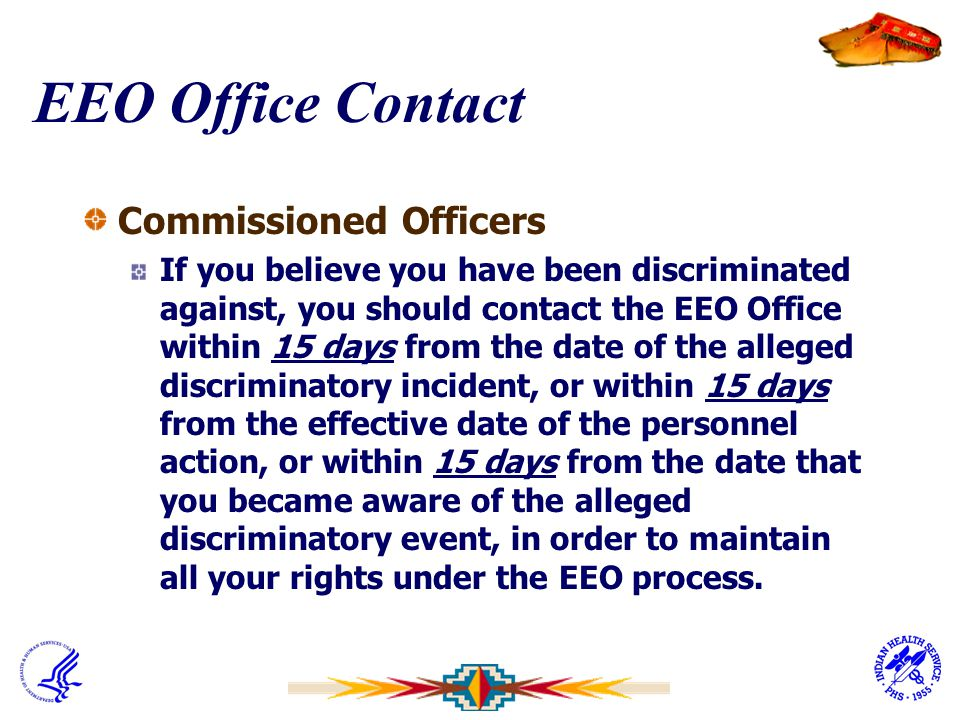 EEO Office Contact Commissioned Officers