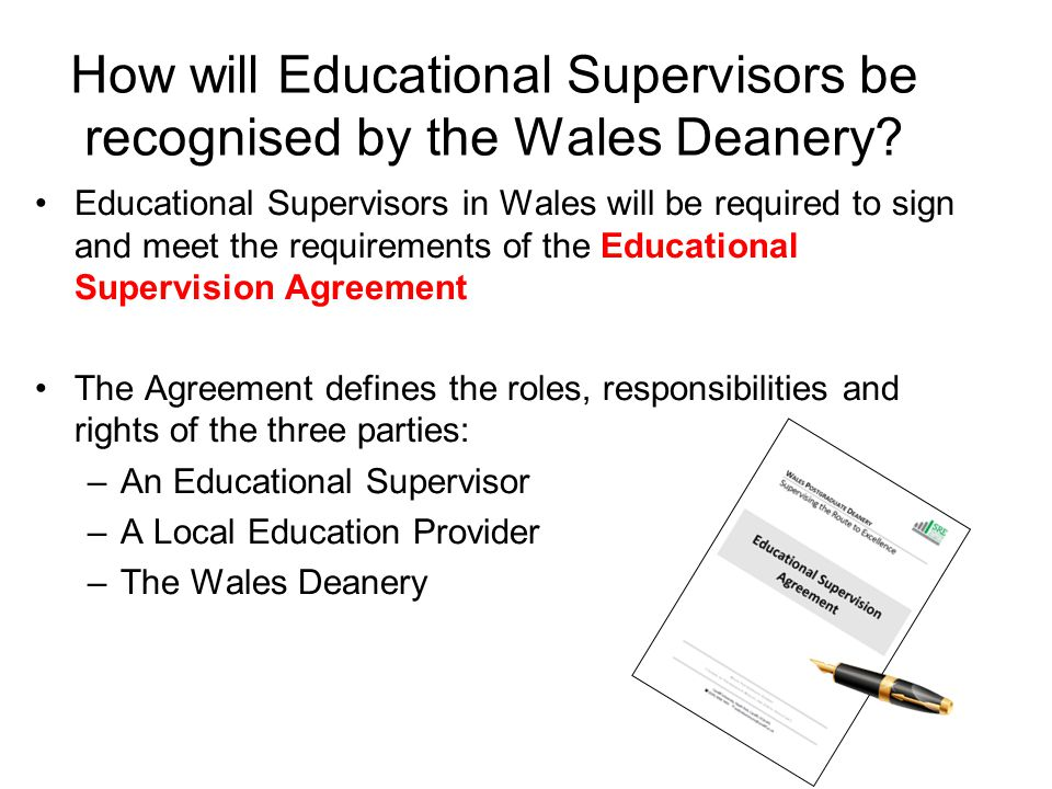 How will Educational Supervisors be recognised by the Wales Deanery