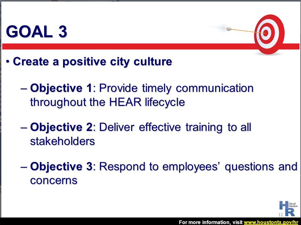 GOAL 3 Create a positive city culture