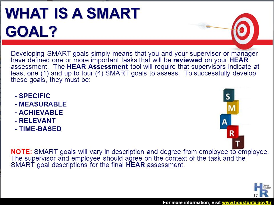 WHAT IS A SMART GOAL