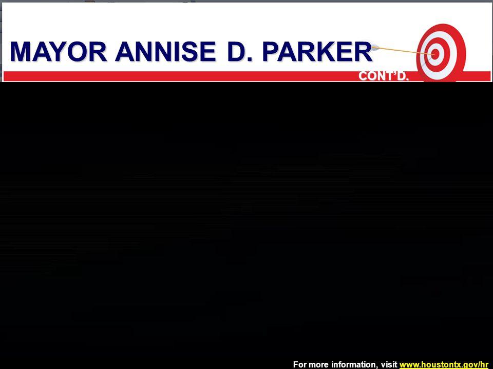 MAYOR ANNISE D. PARKER CONT'D. 5