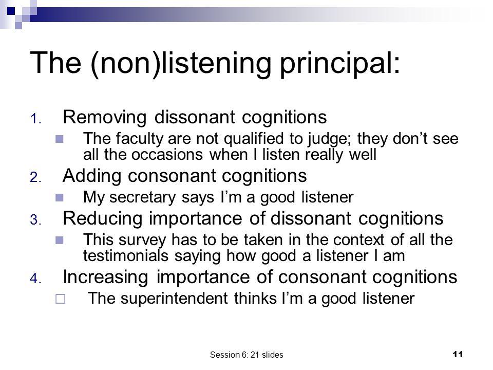 The (non)listening principal: