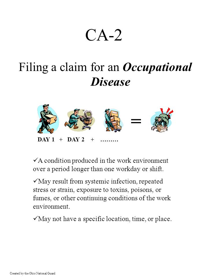 = CA-2 Filing a claim for an Occupational Disease