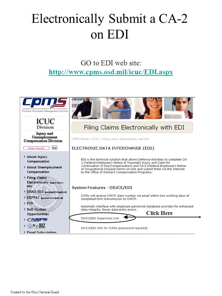Electronically Submit a CA-2 on EDI