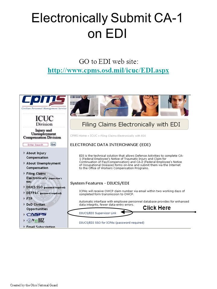 Electronically Submit CA-1 on EDI