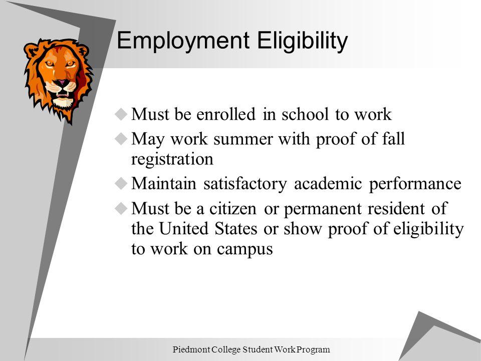 Employment Eligibility
