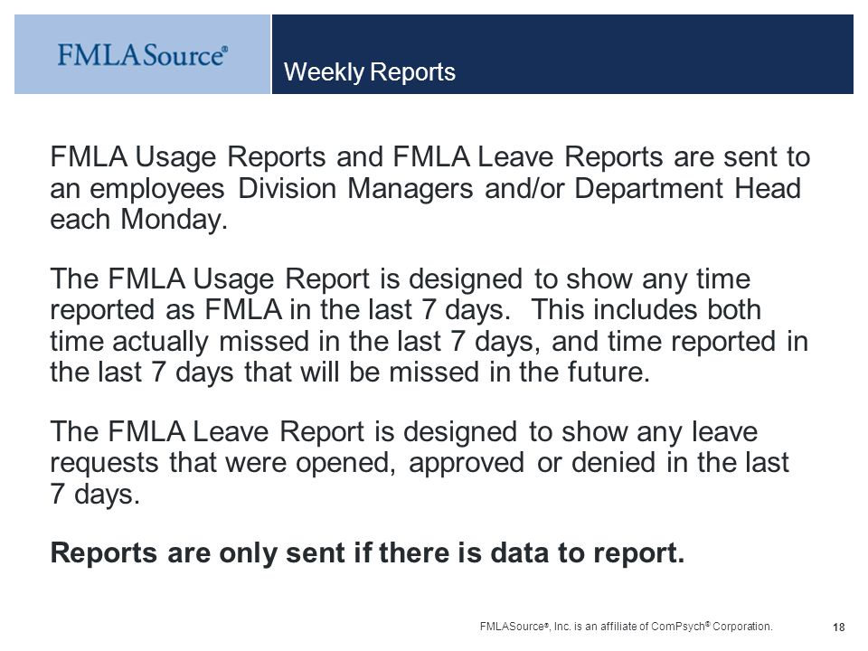 Reports are only sent if there is data to report.