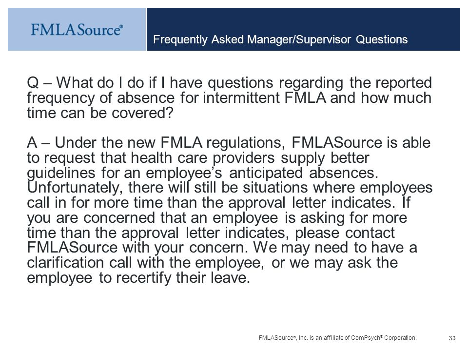 Frequently Asked Manager/Supervisor Questions