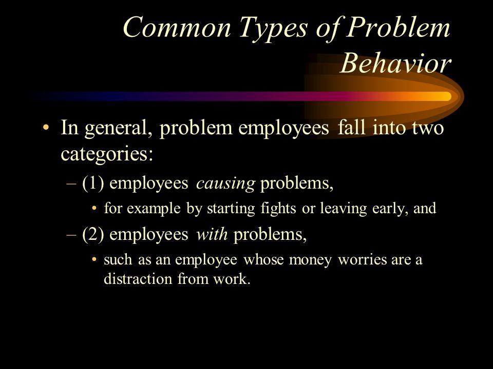 Common Types of Problem Behavior