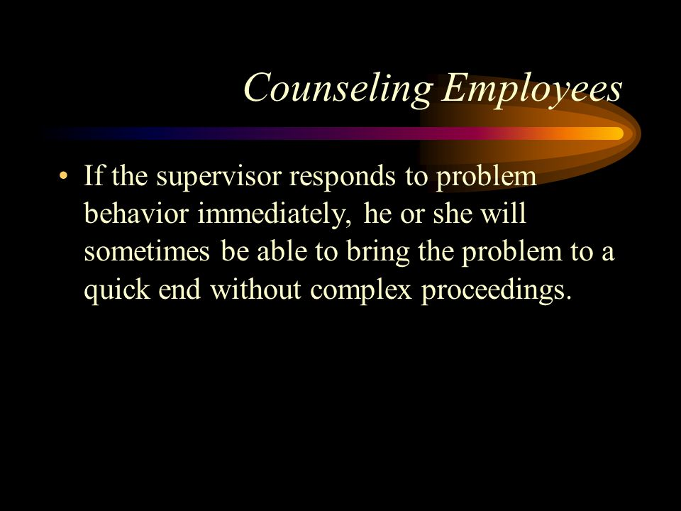 Counseling Employees