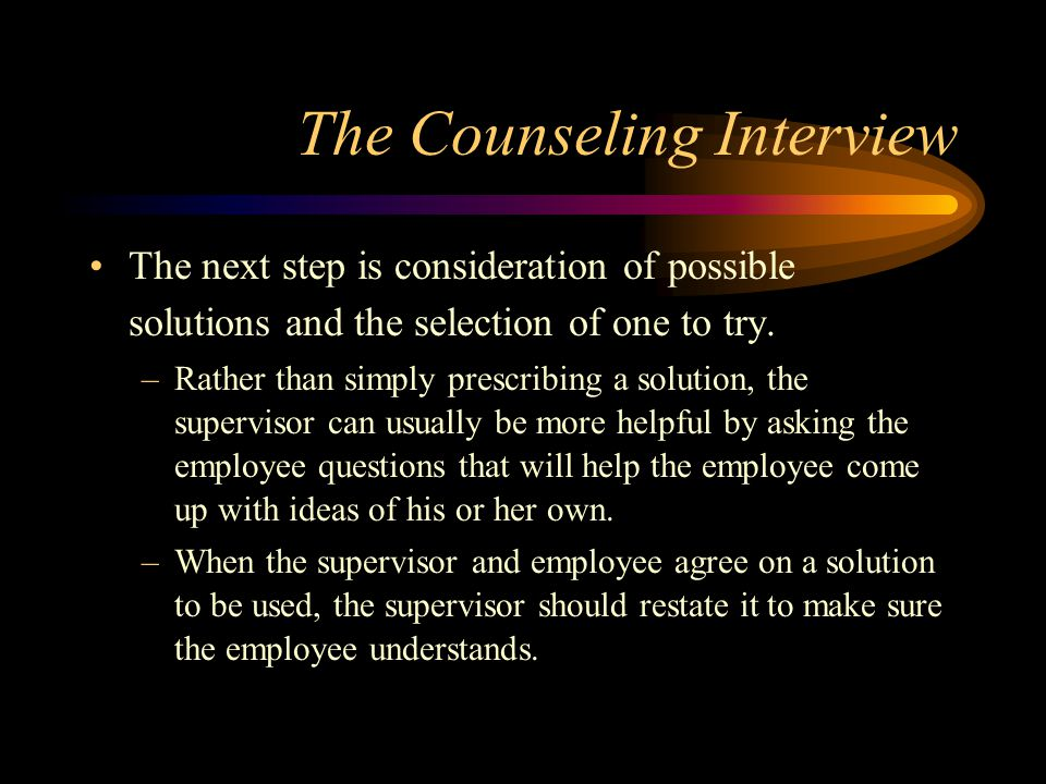 The Counseling Interview