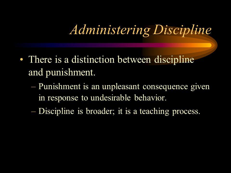 Administering Discipline