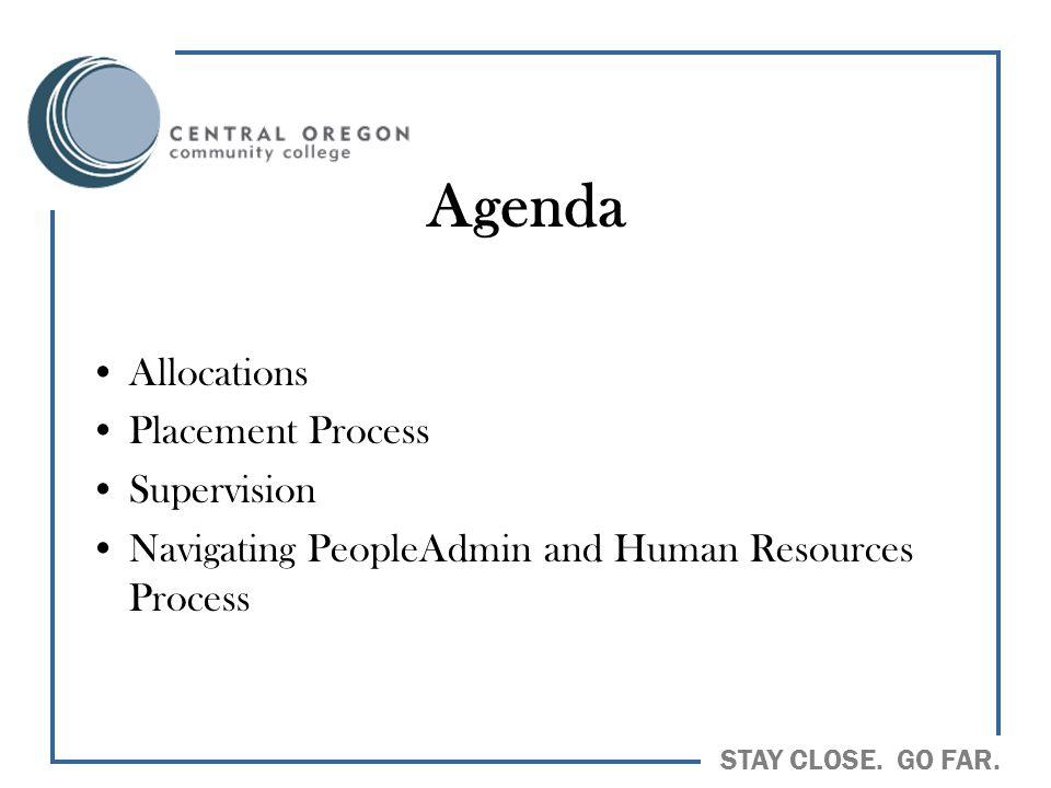 Agenda Allocations Placement Process Supervision