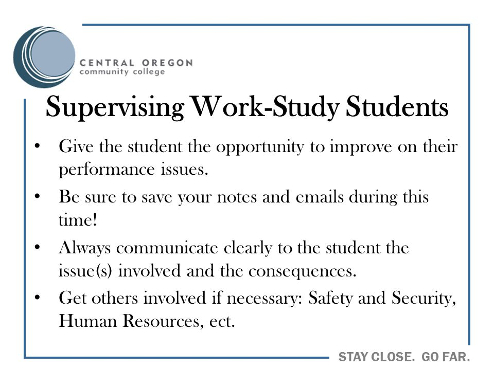 Supervising Work-Study Students