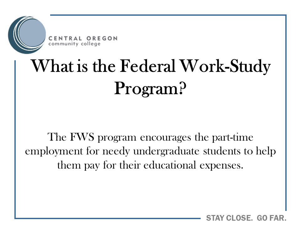 What is the Federal Work-Study Program