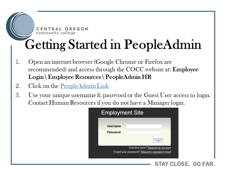 Getting Started in PeopleAdmin
