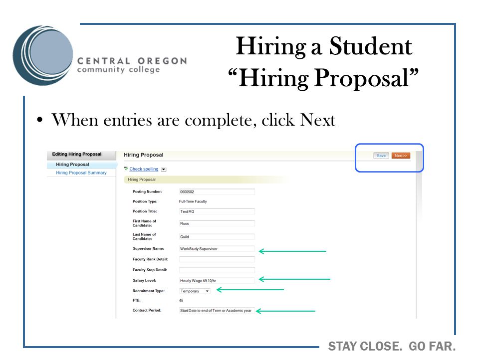 Hiring a Student Hiring Proposal