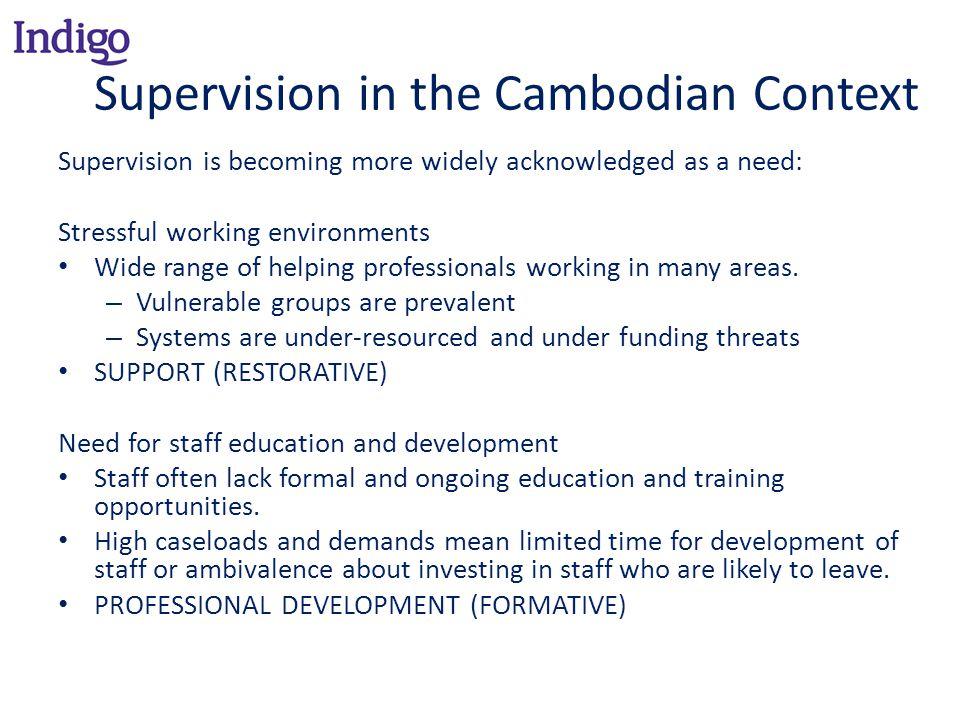 Supervision in the Cambodian Context