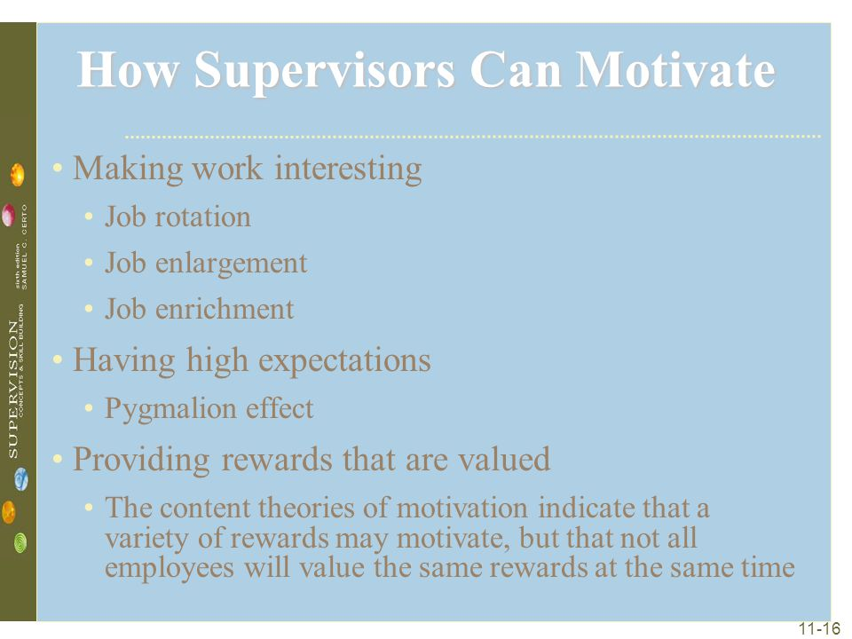 How Supervisors Can Motivate