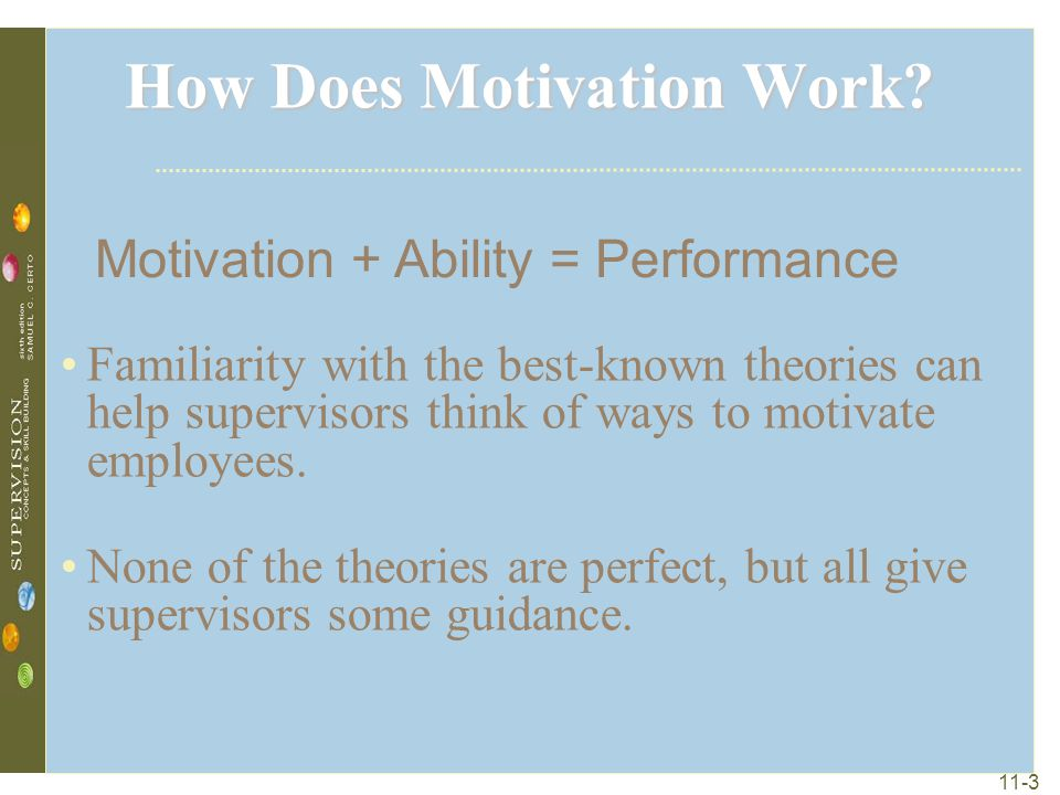 theories ways to motivate employees Employee motivation is a critical aspect at the workplace which leads to the performance of the department and even the company motivating your employees needs to be a regular routine.