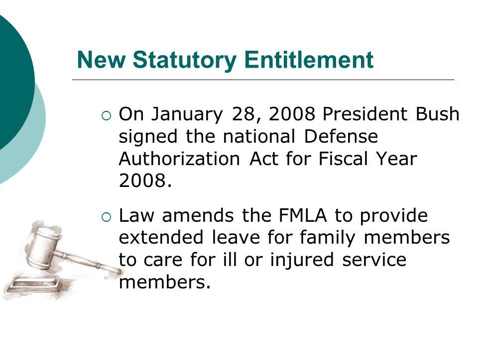New Statutory Entitlement