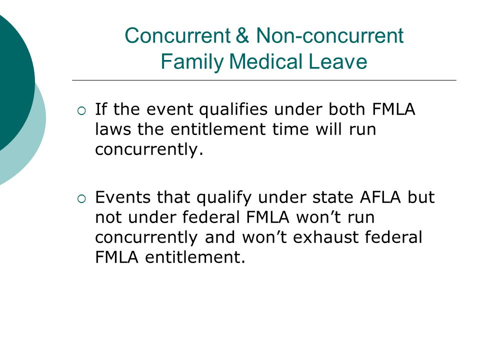 Concurrent & Non-concurrent Family Medical Leave