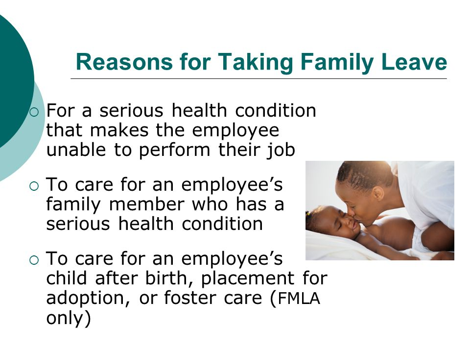 Reasons for Taking Family Leave