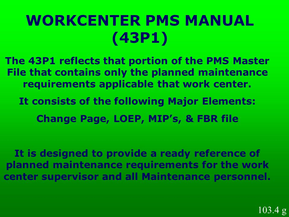 WORKCENTER PMS MANUAL (43P1)