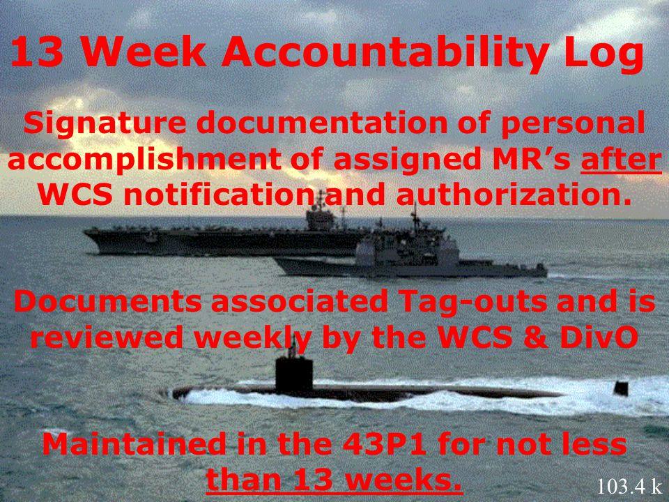 13 Week Accountability Log